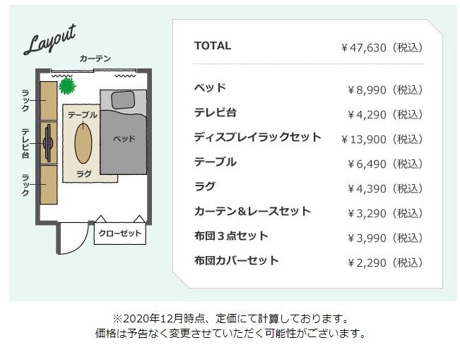 5万円家具内訳